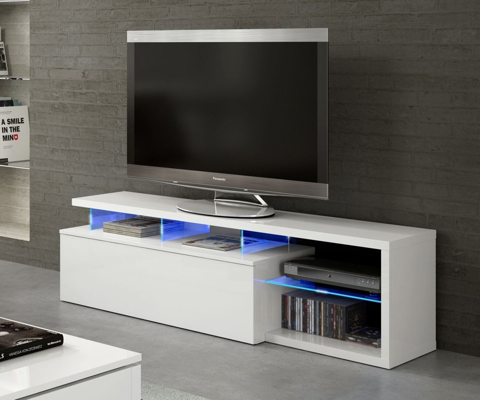 Mueble para tv con leds boston comprar muebles para tv en for Muebles para television