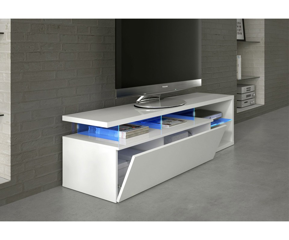 Mueble para tv con leds boston comprar muebles para tv en for Muebles para television modernos