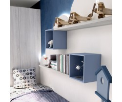 ESTANTE PARED CON CUBOS BLAU